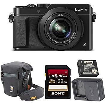 Panasonic LUMIX LX100 4K & Leica Lens (Black) (Travel Charger Kit Bundle)