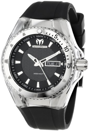 TechnoMarine Unisex 110042 Cruise Original 3 Hands Black Dial Watch