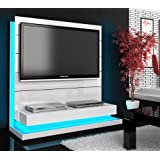 tv wand paneel element schwarz hochglanz mit tv halterung. Black Bedroom Furniture Sets. Home Design Ideas