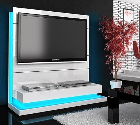 Tv wand weiß hochglanz  TV Wand Paneel Element weiß hochglanz mit TV Halterung: Amazon.de ...
