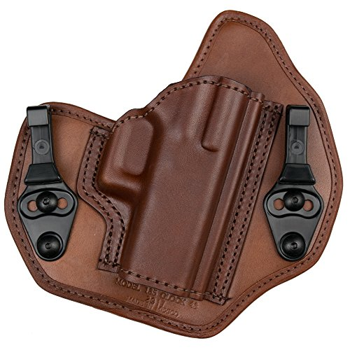 Bianchi Model 135 Suppression Tuckable Inside Waistband Holster Fits Colt 1911, Right Hand, Tan, Size 14