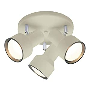 Westinghouse 6632600 Three-Light Multi-Directional Flush Mount Interior Ceiling Fixture Off White Finish