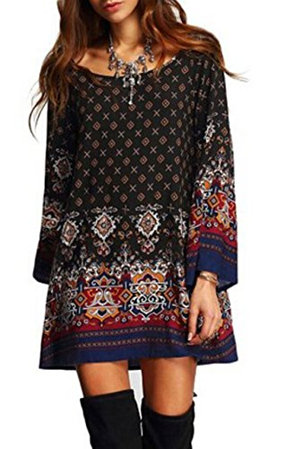 relipop-womens-3-4-sleeve-ethnic-style-bohemian-printed-mini-floral-tunic-dress-small-type-8