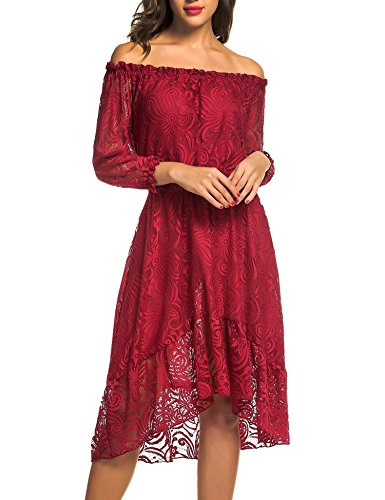 Women's Off The Shoulder 3/4 Sleeve Floral Lace Twin Set