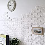 WinnerEco 3D Brick PE Foam DIY Wall Sticker Self Adhesive Wallpaper for Background TV Bedroom Living Room
