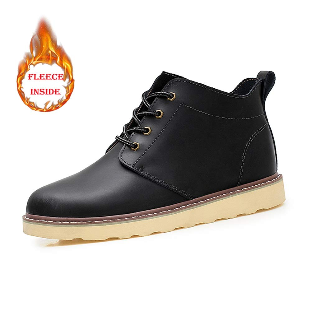 2018 Herren Stiefel Sommer schuhe, Herrenmode Casual Klassische Knöchelarbeitsstiefel Runde Kappe Winter Faux Fleece Inside High Top Stiefel (konventionell Optional)