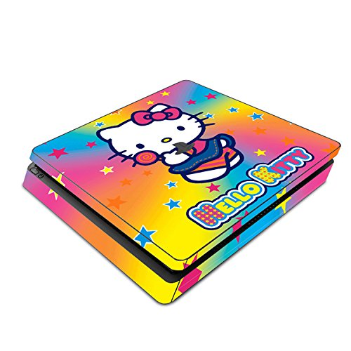 Decorative Video Game Skin Decal Cover Sticker for Sony PlayStation 4 Slim Console PS4 - Hello Kitty Rainbow