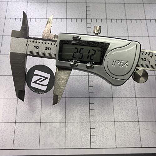 144 octets de m/émoire NXP Chip NTAG213 de NXP Fabriqu/é par NFC Tagify. PVC dur et colle forte 3M 10 x /étiquettes autocollantes en PVC blanches dur NFC Disque rond de 25 mm Design /él/égant