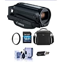 Canon VIXIA HF R80 3.28MP Full HD Camcorder, - Bundle With 43mm UV Filter, Video Bag, 16GB SDHC Card, Cleaning Kit, Card Reader