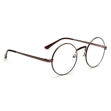 Retro Runde Brille Mit Fensterglas Damen Herren Brillenfassung nwx22JUy6X