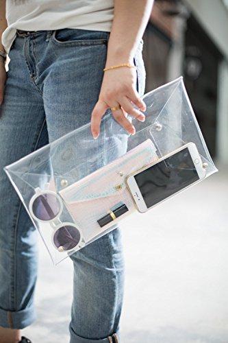 2 Pochette Flada transparent Style moyen pour 2 Style femme d6BdnXfq