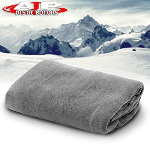 (12V Car Truck Heated Blanket Electric Fleece Travel Heating Seat Blanket Throw Automotive Vehicle Road Travel Trip RV Soft Polar Fleece Winter Cold Weather- Anti-Flammable Material (Gray))