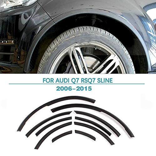 Jun-star Wheel Fender Flares Audi Q7 2006-2015 PU Arch Lip Wheel Eyebrow Protector