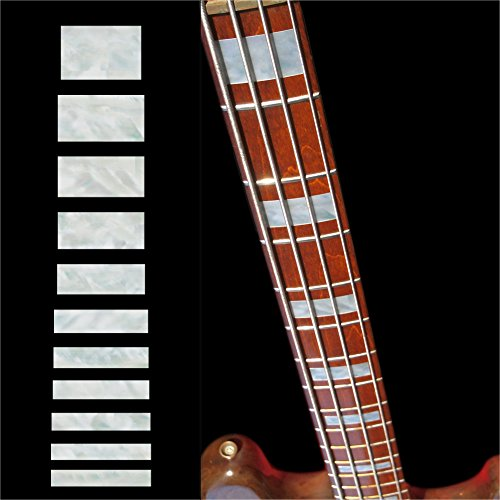 Fretboard Markers Inlay Sticker Decals for Bass - Jazz Bass Block - WP