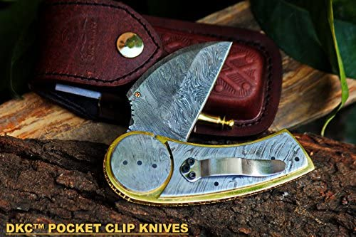 DKC-621 Wheeler Damascus Pocket Folding Knife