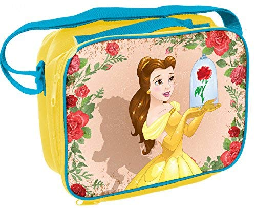 UPD 16620 Beauty & The Beast Disney Princess Belle Rectangular Insulated Lunch Bag with Shoulder Strap, Multicolor