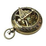 Brass Nautical Brass Pocket Sundial Comp
