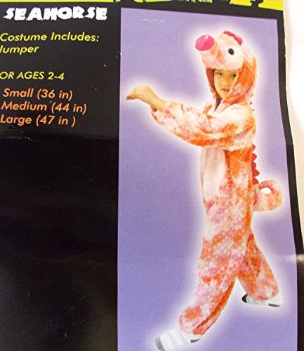 Pink Seahorse Child Toddler Costume Jumper Ages 2-4 36' NIP -