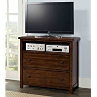 Picket House Furnishings Danner Media Chest Rustic/Chestnut/Solid Hard Wood