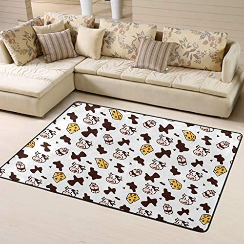 NiYoung Luxury Modern Classic Thick Soft Cow Milk Cheese Area Rug