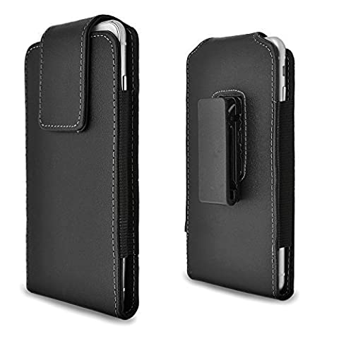 iPhone 6 6s Plus Holster Case, Gcepls iPhone 7 Plus Premium Leather Holster Belt Case with Clip / Loops Belt Pouch Holder Cover with Built in ID Card Slot for iphone 6 6s 7 Plus - Iphone Vertical Case