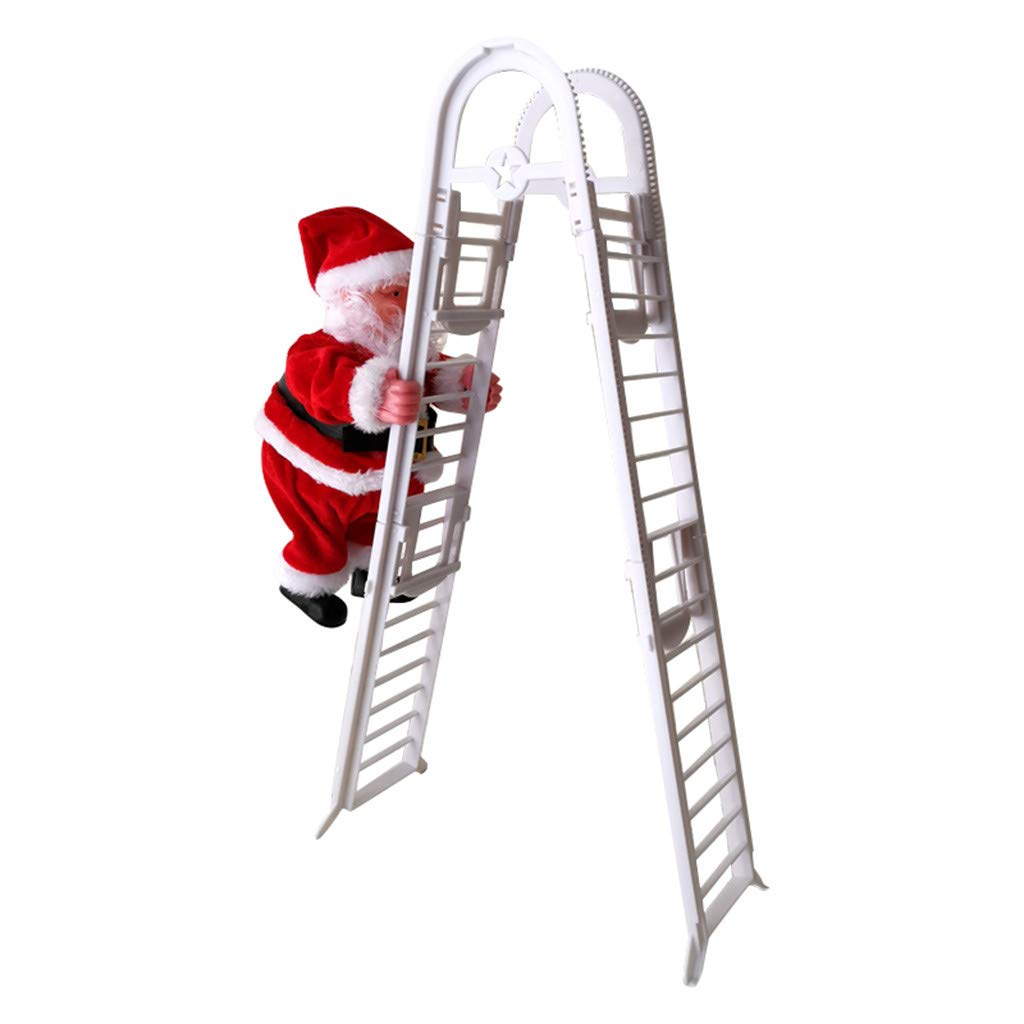 Details about  /Christmas Senta Claus Climbing Ladder Hanging Decorations Holiday Gift