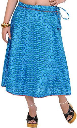 Exotic Ocean India Con Hawaiian Deporte Midi With Printed Skirt Cordón De Piping rrw1C6dxqP