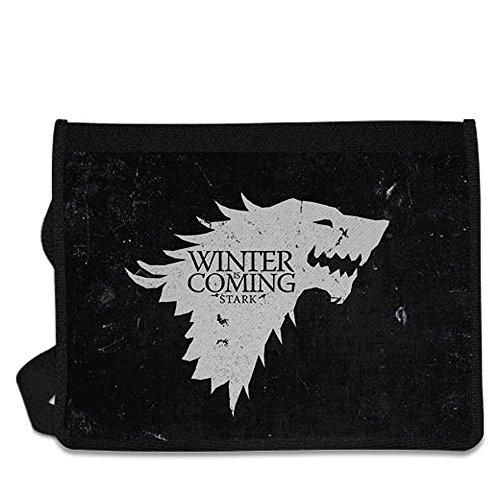 Game Of Thrones House Stark Shoulder Messenger Bag by PrintPro