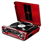 Ion Audio Mustang LP Ford 4-in-1 Classic Car Styled Music Center, Red by Ion Audio - MI
