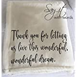 Personalized Throw Blanket - a thank you hostess gift!