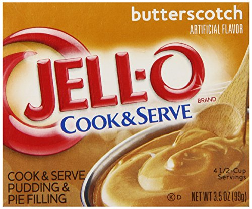 Fat Free Pudding (Jell-O Cook and Serve Pudding and Pie Filling, Butterscotch, 3.5-Ounce Boxes (Pack of 6))