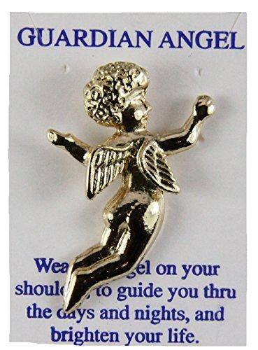 6030171 Guardian Angel Lapel Pin Tie Tack Brooch Michael Archangel Protector