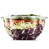 NYHI Clear Plastic Disposable Salad Containers