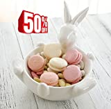 Cereal Bowl Candy Dishes, Ceramic Rabbit Serving Bowl for Home Decor, CLEARANCE SALE
