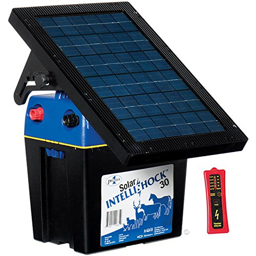 Premier Solar IntelliShock 30 Fence Energizer Kit - Includes 5-Light Wireless Fence Tester