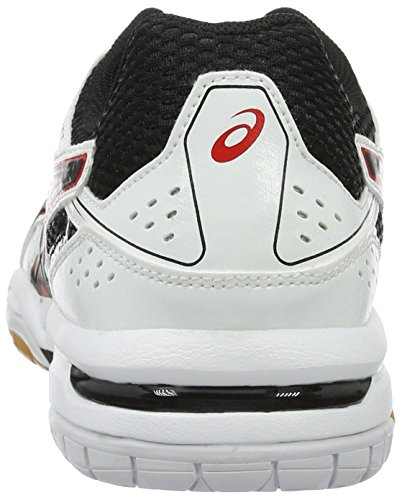 Asics Gel-Rocket 7, Zapatillas de Voleibol para Hombre Varios colores (White / Black / Vermilion)