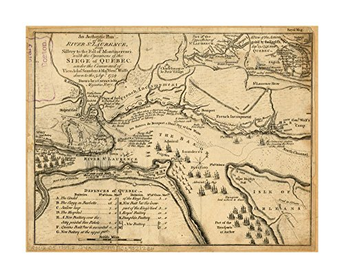 Review 1759 Map Saint Lawrence