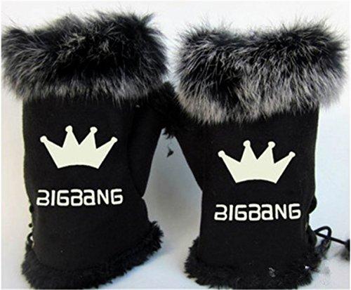 KPOP Bigbang Gloves GD G-Dragon TOP Seungri Taeyang Daesung (Bigbang black)