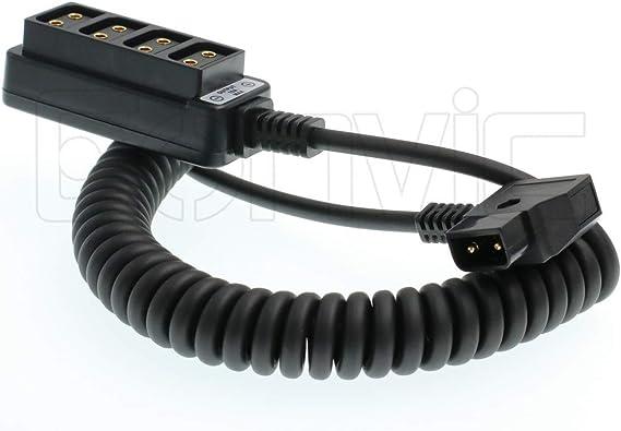 TALLA d-tap splitter coiled cable. Adaptador macho D-tap B a 4 puertos hembra D-Tap P-Tap adaptador para fotografía d-tap splitter coiled cable