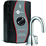 InSinkErator Invite H-HOT100 Push Button Instant Hot Water Dispenser System with Stainless Steel Tank, Chrome