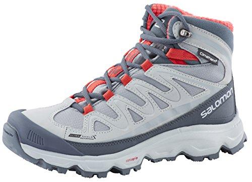 Salomon SYNAPSE SNOW CS WP Women Trail Schuhe pearl grey-light onix-papaya-b - 38