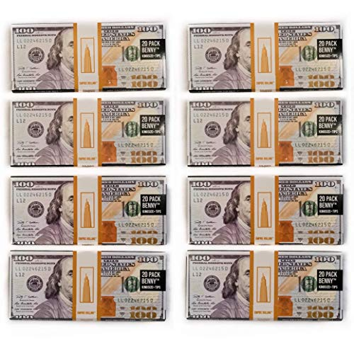 EMPIRE ROLLING - Eight Pack Wallets $100 Bill Rolling Paper (160 Papers) - BENNY1 3/4 Inches | Made from Pure All Natural Ingredients | Premium Quality Paper, Organic, 100% Vegan, Non-GMO, Unbleached ()