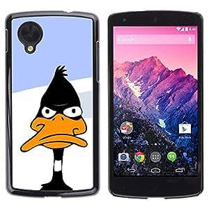 PC/Aluminum Funda Carcasa protectora para LG Google Nexus 5 D820 D821 Duck Black White Beak Cartoon Funny / JUSTGO PHONE PROTECTOR