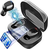 完全ワイヤレスイヤホン ブルートゥースイヤホン ヘッドセット 瞬時ペアリング Hi-Fiステレオ高音質 超長時間駆動 ノイズキャンセリング機能 両耳/片耳対応 IPX7防水 iPhone/iPad/Android適用…