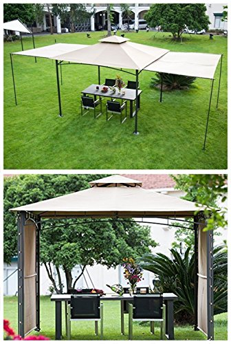Cheap  Abba Patio 10x10 ft Outdoor Art Steel Backyard Shelter Patio Gazebo with..