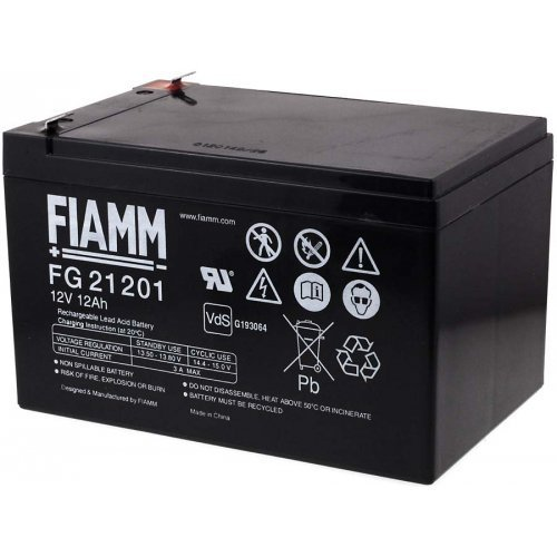 FIAMM Ersatzakku für Solaranlagen Hebebühnen Reinigunsmaschinen Notbeleuchtung Alarmanlage 12V 12Ah, 12V, Lead-Acid