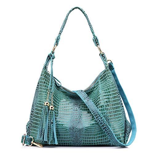 Bag Tassel Hobos with Bag Shoulder Blue PqZOw44