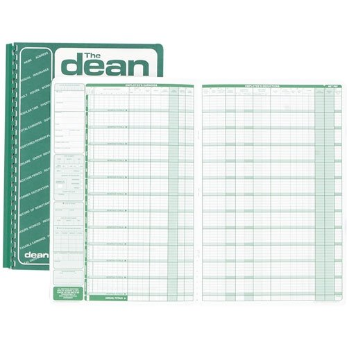 Dean & Fils DEA80024 Twenty Four Employees Payroll Book-1 Each S.P. Richards CA