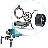 Neewer Follow Focus with Adjustbale Gear Ring Belt for DSLR Cameras Such as Nikon,Canon,Sony/DV/Camcorder/Film/Video Cameras,Fits Shoulder Supports,Stabilizers,Movie rigs,All 15mm Rod Mounts