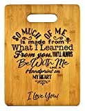 Mothers Gift – Special Love Heart Poem Bamboo Cutting Board Design Mom Gift Mothers Day Gift Mom Birthday Christmas Gift Engraved Side For Décor Hanging Reverse Side For Usage (8.75x11.5 Rectangle)